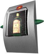 Applique publicitaire personnalisée en forme de cadre et bouteille