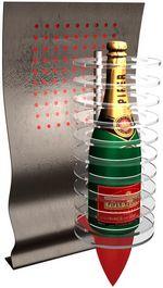 Applique publcitaire pour du champagne