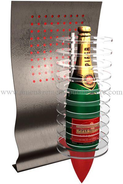 Applique personnalisée en bouteille de champagne