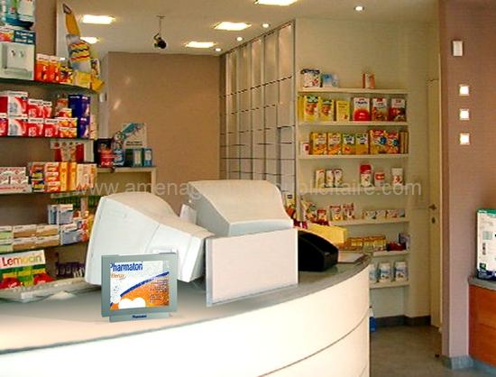 aménagement de magasin - comptoir de boutique