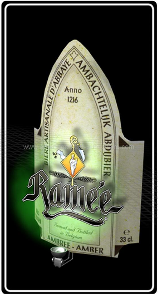 signalétique intérieure - enseigne lumineuse pour une marque d'alcool