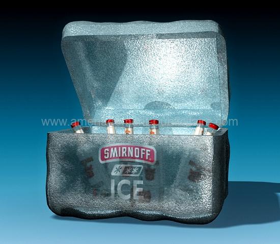 mobilier design - projet de coffret isotherme publicitaire pour une boisson