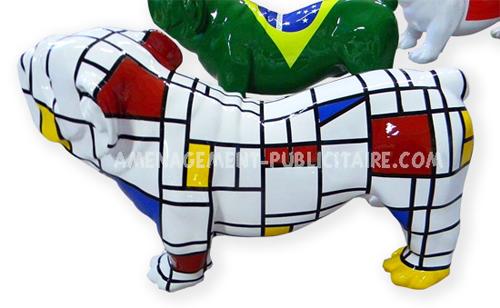 statue résine : bulldog (38cm X 62cm)