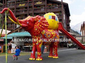 toboggan-éléphant