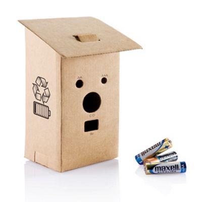 emballage - boîte en carton pour recevoir des piles usagées